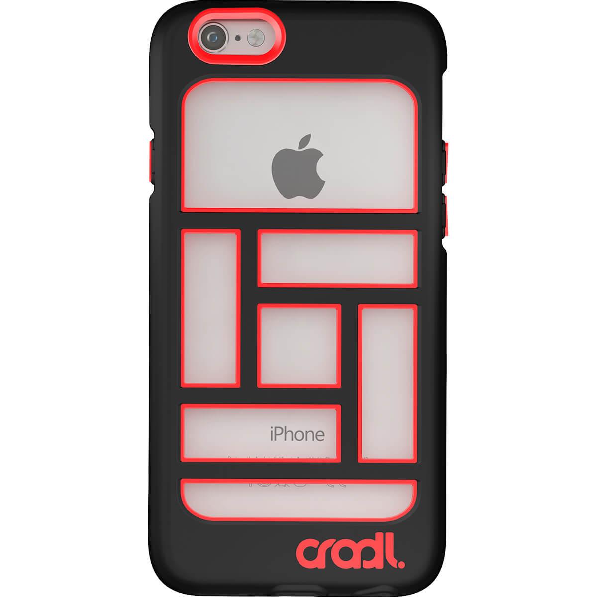 Blocks iPhone 6 case jet-crimson back (cropped)