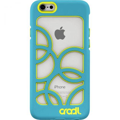Bubbles iPhone 6 case aqua-lightning back (cropped)